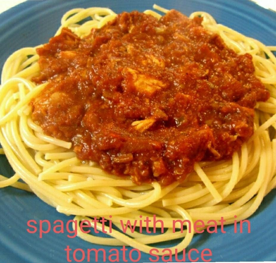 Spagetti In Tomato Meat Sauce