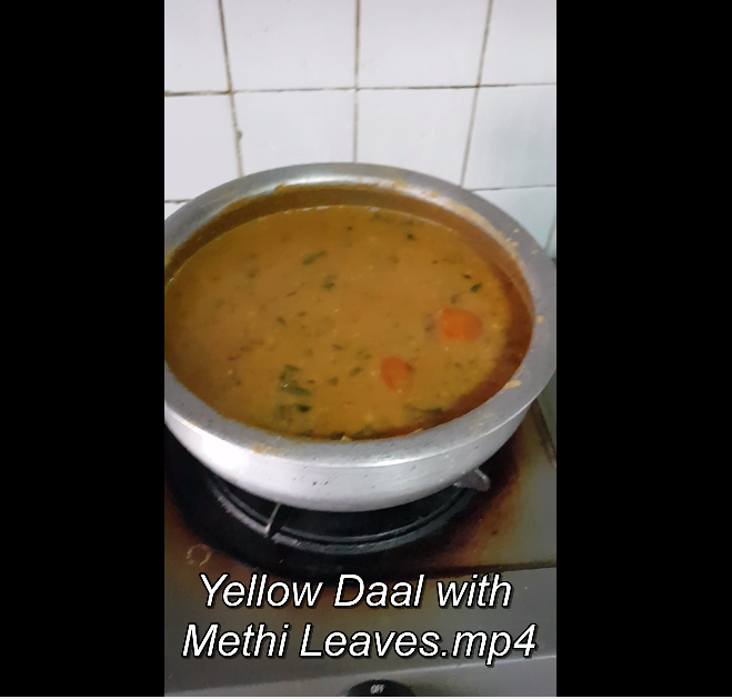 Yellow Daal with Methi Leaves